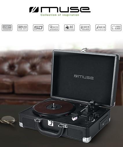 Muse MT-101 LT Negro tocadisco - Tocadiscos (Negro, 33,45,78 RPM ...