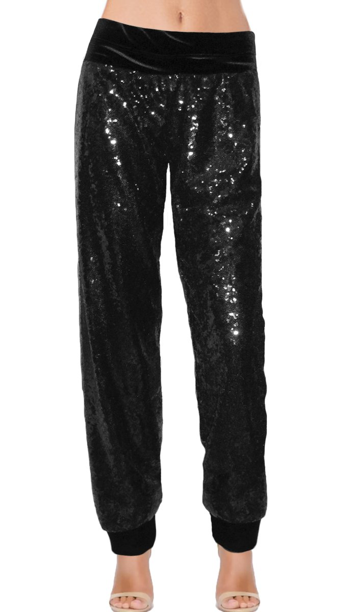 Ooh la la Fully Lined Sequin Pants with Cuffs 201720M cuffs