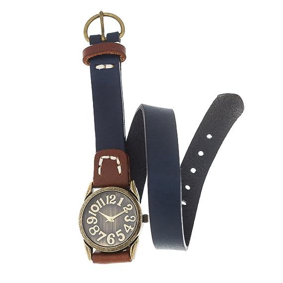 Reloj de Mujer de Moda G-Style Correa de Cuero Relojes Pulsera Regalo Perfecto (