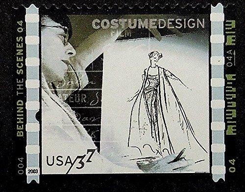 [Behind the scene Costume Design Making of movies -Framed Postage Stamp Art 19548] (Postage Stamp Costume)