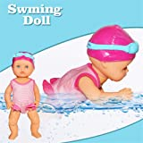 haptern Cute Swim Dolls, Non-Silicone Inedible Mini Play New Forces Swimming Doll I Can Swim for Kids Holiday Birthday Gifts, 25 x 25 x 10cm Astounding