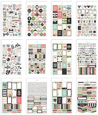 Mini Sticker Tablet Bloom 12 Shts Carpe Diem Personal Planner