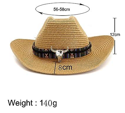 5d98411c Amazon.com: XYCXBM Casual Woolen Cowboy Hats Unisex Vintage Folk Custom  Headwear Cap Western Cowboy Hat Fashion Jazz Cap Beige: Clothing