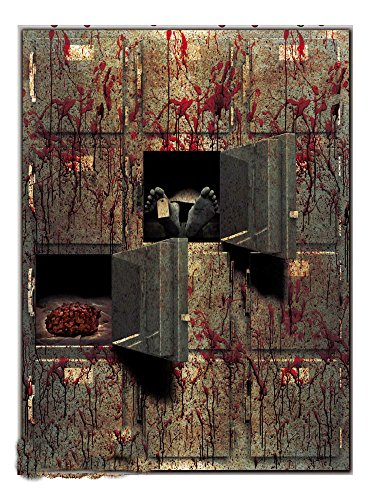 Bloody Horror GIANT MORGUE WALL GORE DECOR Halloween Prop Decoration Autopsy CSI Party (Halloween Haunted House Themes)