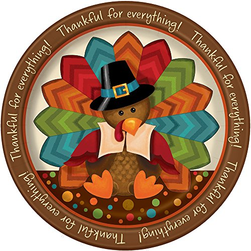 Cute Turkey Thanksgiving Dinner Plates