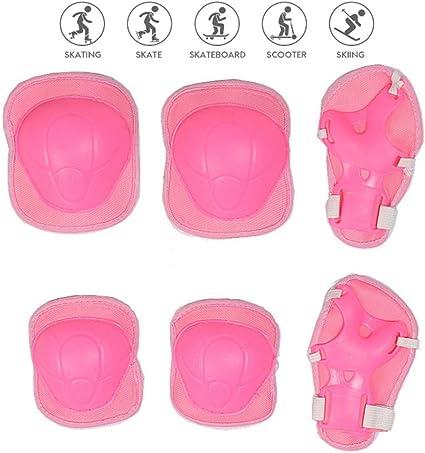 Nuluxi Rosa Niños Bicicleta Protecciones Kit Niños de Protecciones ...