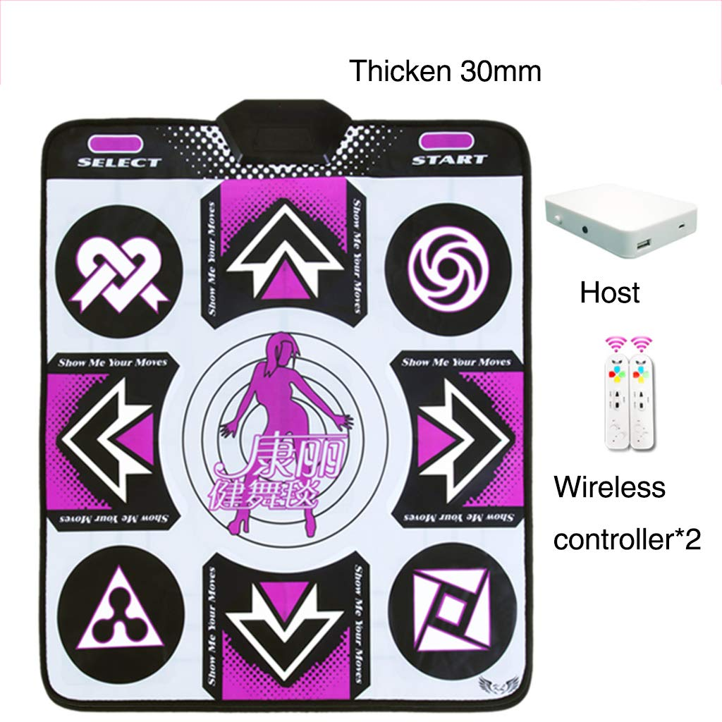 Children Dance Pad,Wireless Not-Slip Dance Mat Fitness Lose Weight Dance Revolution Game Play Mat Hd Tv Computer Dual-e 89x81cm(35x32inch) by WEWE (Image #3)