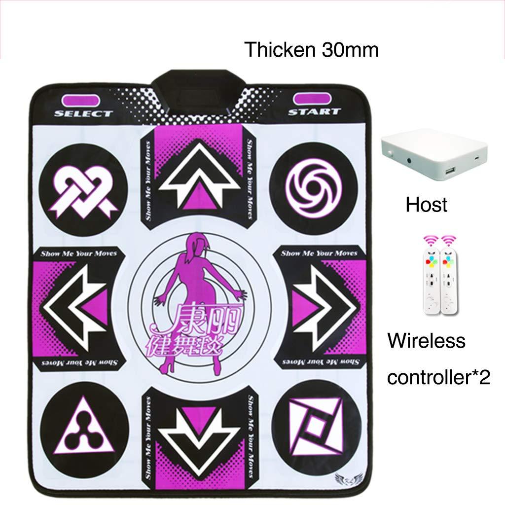 Children Dance Pad,Wireless Not-Slip Dance Mat Fitness Lose Weight Dance Revolution Game Play Mat Hd Tv Computer Dual-e 89x81cm(35x32inch)