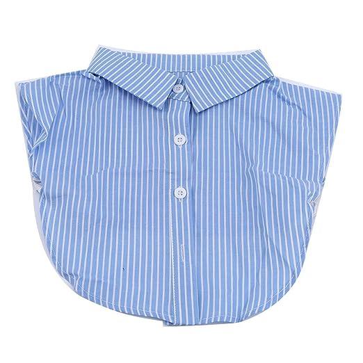 Camisa falsa de cuello falso extraíble con cuello falso y corbata ...
