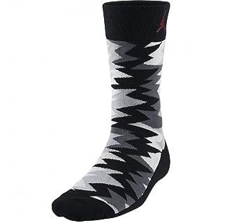 Calcetines Nike Retro 7 Sneaker Crew negro / gris lobo / gimnasio talla roja X-Large: Amazon.es: Deportes y aire libre