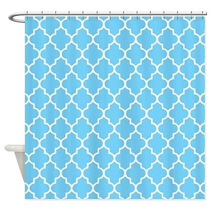 Amazon CafePress Blue Quatrefoil Shower Curtain Decorative