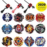 Battling Top Bey Burst Set of 12pcs | Fighter Gyroscope 4D Fusion Model | Burst Evolution Combination Series |