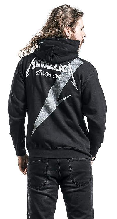 Metallica Shrouded Capucha con Cremallera Negro: Amazon.es: Ropa y accesorios