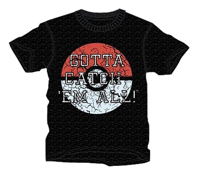 97fbba91 Official UK Pokemon Go T-Shirt Black Gotta Catch Em All 12-13:  Amazon.co.uk: Clothing