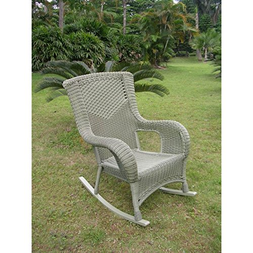 (International Caravan 4007-1CH-AM-IC Furniture Piece San Tropez Resin Wicker Aluminum Rocker)