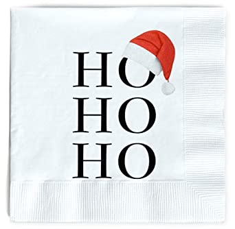 Amazon Com Santa Napkins Funny Christmas Napkins Paper Cute Fun Holiday Party Napkin 40 Pack Disposable 6 5 Inches Dinner Parties Cocktail Luncheon Lunch Buffet Appetizer Dessert Industrial Scientific