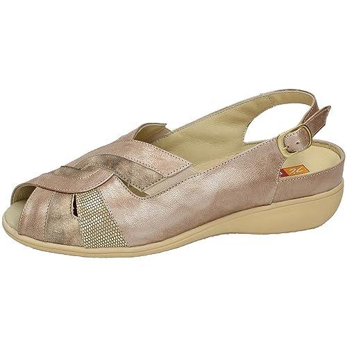 285f3ce821d MADE IN SPAIN 53635 Sandalia DE Piel SEÑORA Sandalias Taupe 39  Amazon.es   Zapatos y complementos