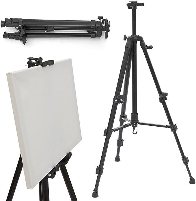 eyepower Caballete de campo portátil para pintores 52-155cm trípode de Aluminio