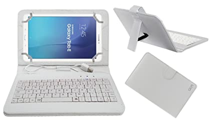 new style a089c de79d Acm USB Keyboard Case for Samsung Galaxy Tab E Sm-T561 Tablet Cover Stand  with Free Micro USB OTG - White