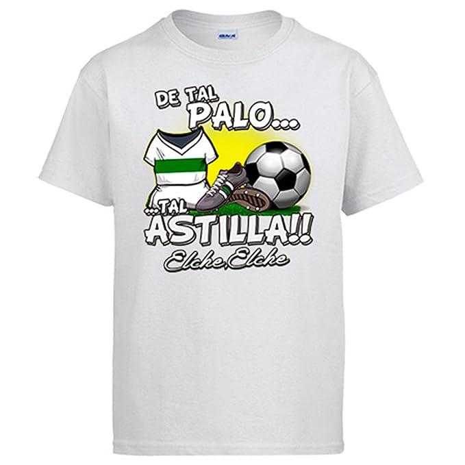 Diver Camisetas Camiseta de Tal Palo Tal Astilla Elche fútbol - Blanco, S