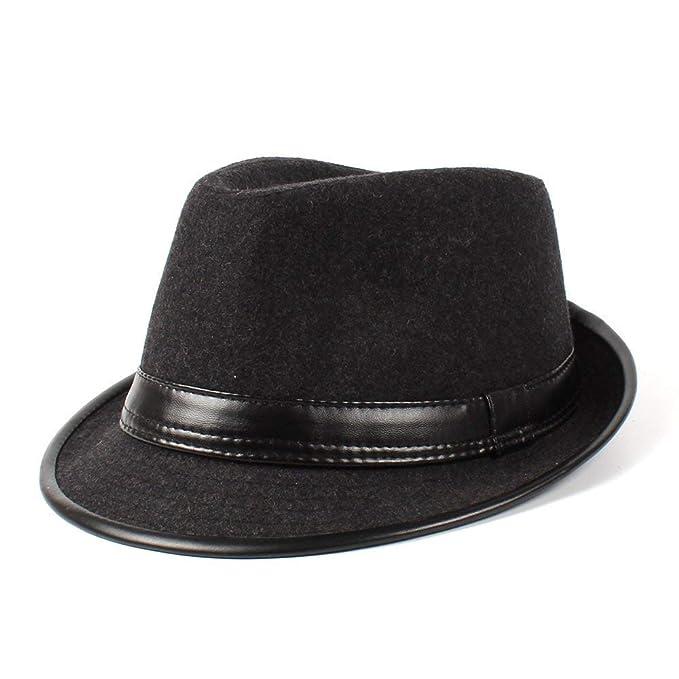 HX fashion Sombrero De Fieltro Beanie para Mujer Elegante Otoño Invierno  Jazz Basic Hat Moda Vintage Estilo Moderno Sombrero De Panamá Gorras Ropa  (Color ... 05a3c6a0370