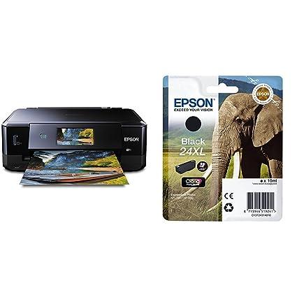 Epson Expression Photo XP-860 - Impresora multifunción de tinta (impresión WiFi y móvil), color negro + Cartucho Negro XL