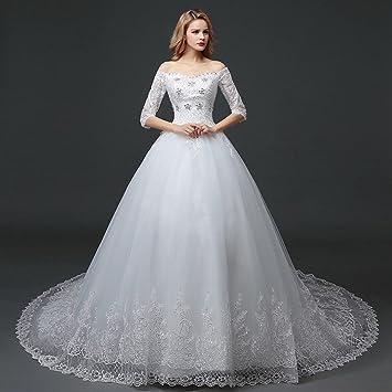 858a117624 AN Vestido de novia de la boda vestido de novia de Corea del cordón fino  vestido