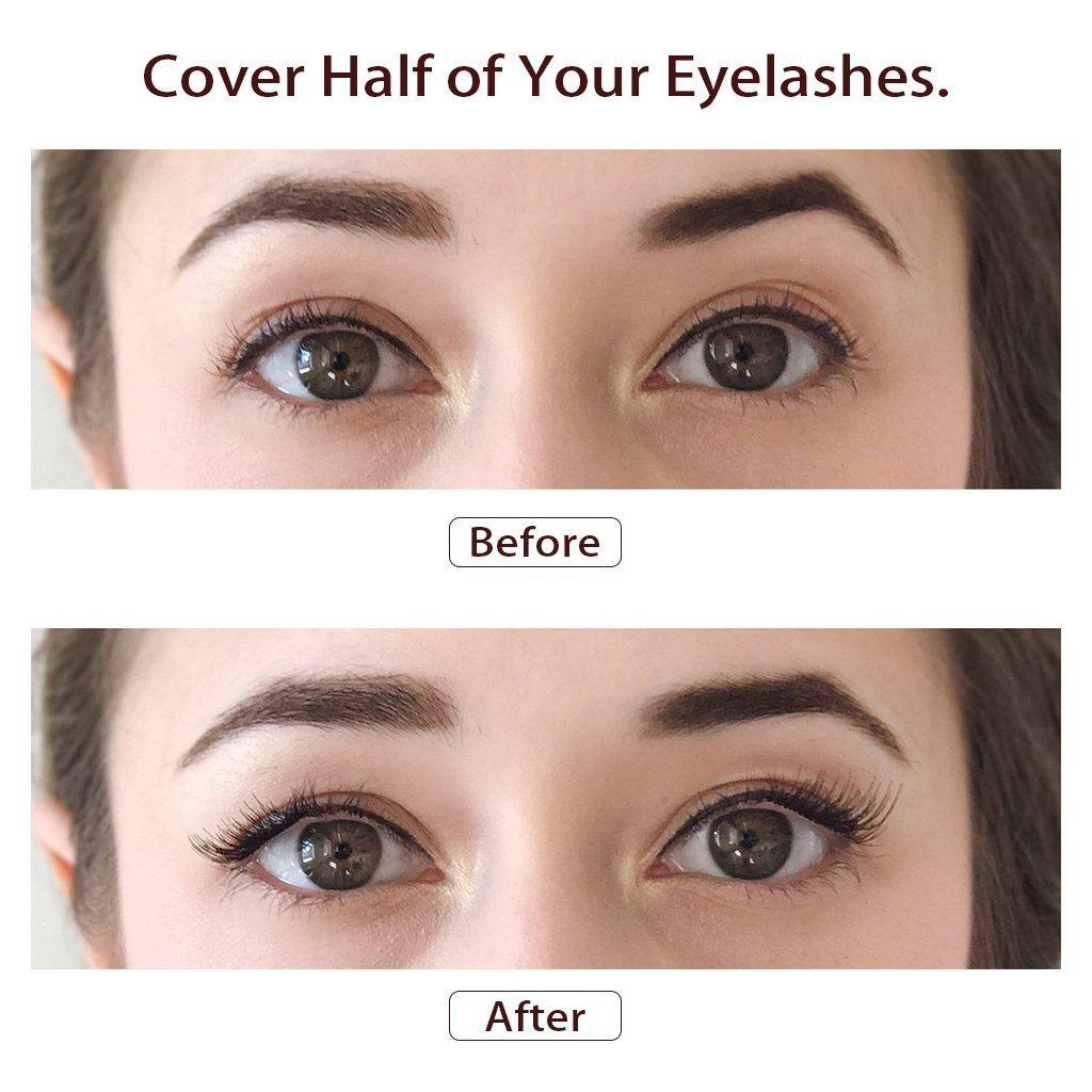13b84d81a7f Magnetic Eyelashes, Inofia magnetic false eyelashes -Half Cover magnet  eyelashes, False Eyelashes 1.5cm Ultra Thin 0.2mm magnetic eyelash  extensions NO GLUE ...