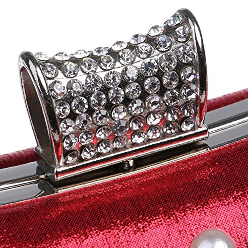 Lgsvb Formal Pearl Sparkly Femmes Diamond Wedding Red Evening Party Embrayage tqpqBw5r