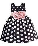 Princess Baby Kids Girls Party Wedding Polka Dot Flower Gown Fancy Dress