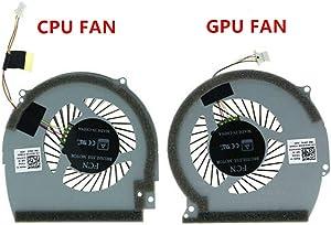 HK-Part Fan for Dell Inspiron 15-7566 15-7567 CPU + GPU Cooling Fan NWW0W 147DX