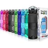 5a516b3cef4d Buy Lonni 1L Sports Water Bottles, 35oz Portable Wide Mouth Big ...