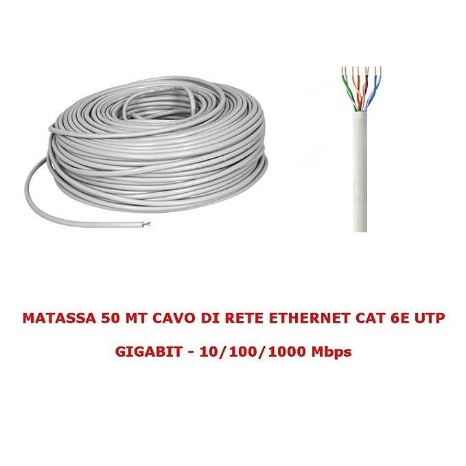 ROLLO DE 50 M MT CABLE DE RED UTP CAT. 6 LAN ETHERNET M BOBINA PLUG MODEM ROUTER ADSL INTERNET ACCESS POINT REAPETER: Amazon.es: Electrónica