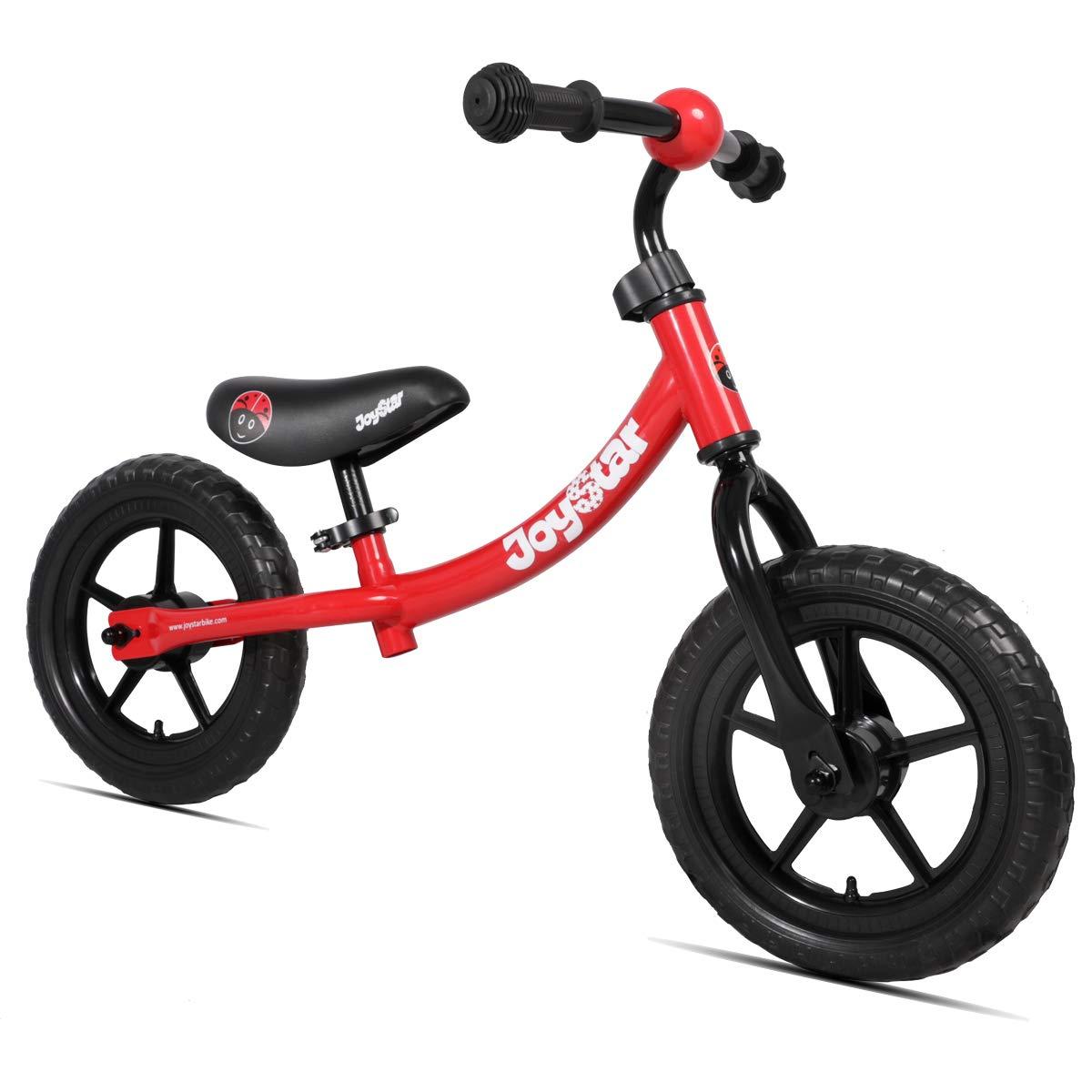 JOYSTAR Balance Bike for 1 2 3 4 5 Years Old Boys & Girls, Neutral Toddler Push Bike for Child, 12 inch Kids Glider Bike, Red
