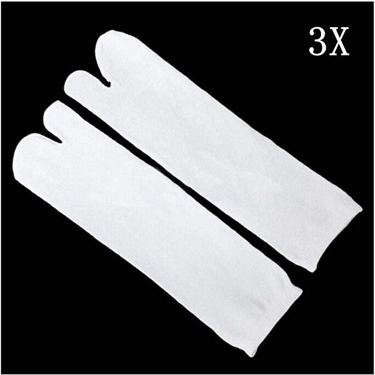 3x Unisex japanischen Kimono Flip Flop Sandale Split Toe Tabi Ninja Geta Socken