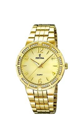 Festina F16704/2 - Reloj de Pulsera Mujer, Acero Inoxidable ...