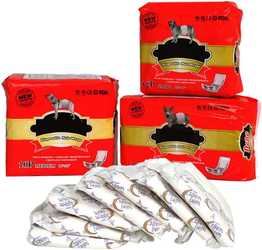 envolturas para Perros antibacterianos s/úper absorbentes HUILI Pa/ñales para Mascotas para Perros machos Pantalones fisiol/ógicos con pa/ñales desodorantes para Perros,XS pa/ñales para Cachorros