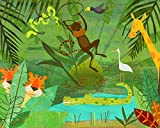 Oopsy Daisy Welcome To The Jungle Stretched Canvas Wall Art by Amy Schimler, 30 by 24-Inch