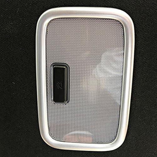 Terisass 1 Pair Fog Light Lamp Cover Matte Silver Trim Frame for Hyundai Encino Kauai Kona SUV 2017 2018 2019 2020 ABS Rear Light