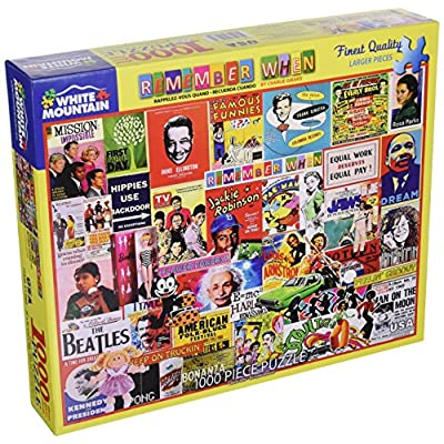 White Mountain Puzzles Remember When - 1000 Piece Jigsaw Puzzle: Toys & Games