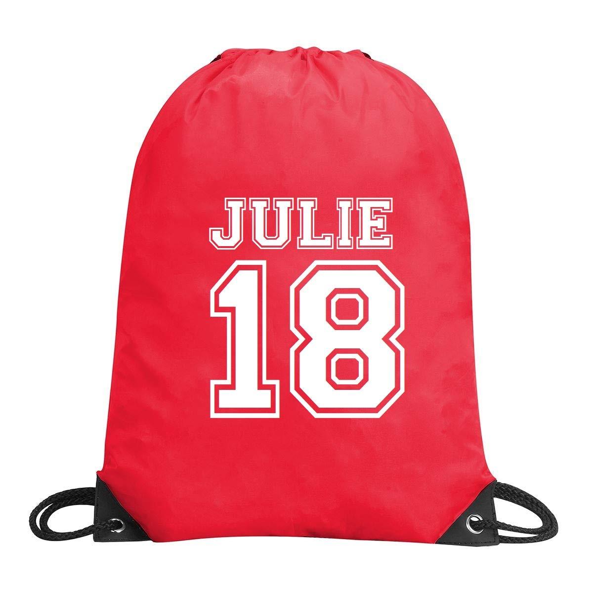 Personalised Football Name and Number Gym Bag - school bag, boot bag, soccer kit, PE bag, P E bag, gym sac, gymsac gymsac (Black)