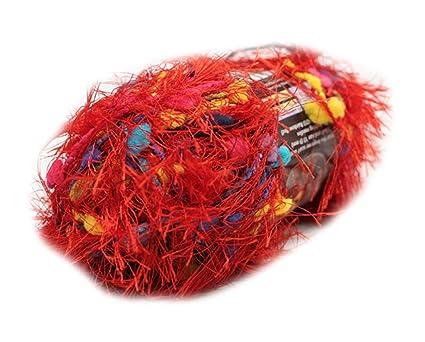 Lion Brand Fancy Fur Eyelash Yarn - #213 Rainbow Red