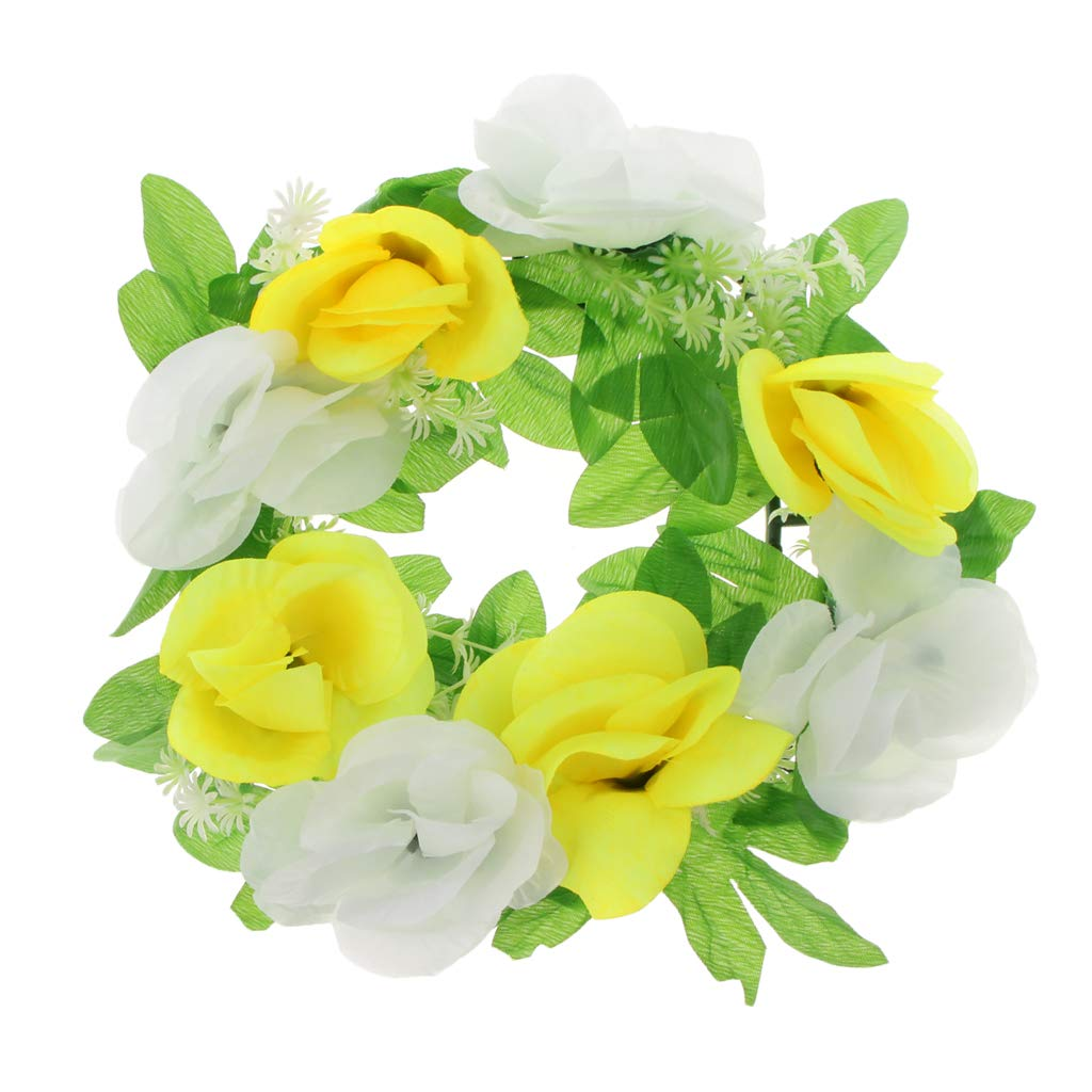 Baoblaze-Grave-Memorial-Flower-Silk-Flower-Wreath-for-Funeral-Cemetery-Decoration