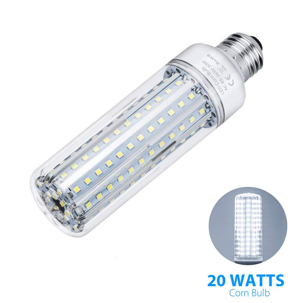 XLQF 20W E27 Lighting Super Bright LED Corn Light Bulbs, 2000LM Corn Light Lamp,360 Degree Beam Angle, 138 LEDs No Flicker,Coolwhite by XLQF