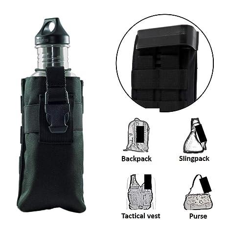 6dcdee3b59 Clakit Water Bottle StrapPack (Black), Backpack Shoulder Strap Pocket, Fits  Bottle up