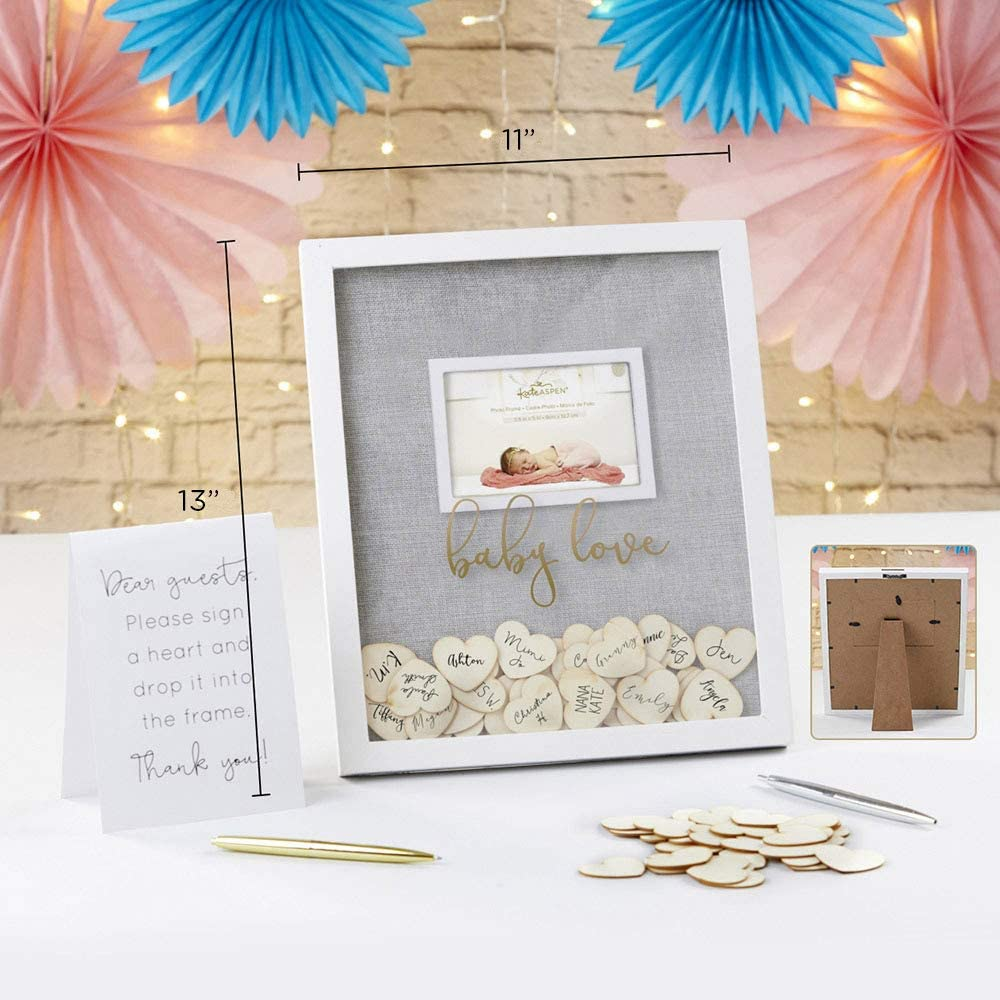 White One Size Kate Aspen 22107NA Baby Shower Alternative-Cloud Frame Guest Book