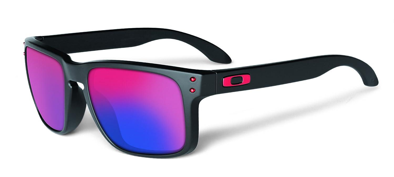 b2f54005b7 Oakley Holbrook Matte Black Sunglasses with Red Iridium Lens  Amazon.co.uk   Sports   Outdoors