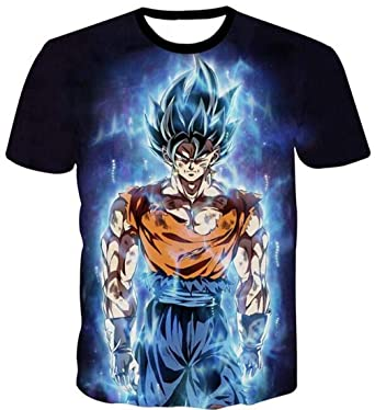 New Women Men Anime Dragon Ball Super Blue Vegeta 3D T-shirt Casual Short Sleeve