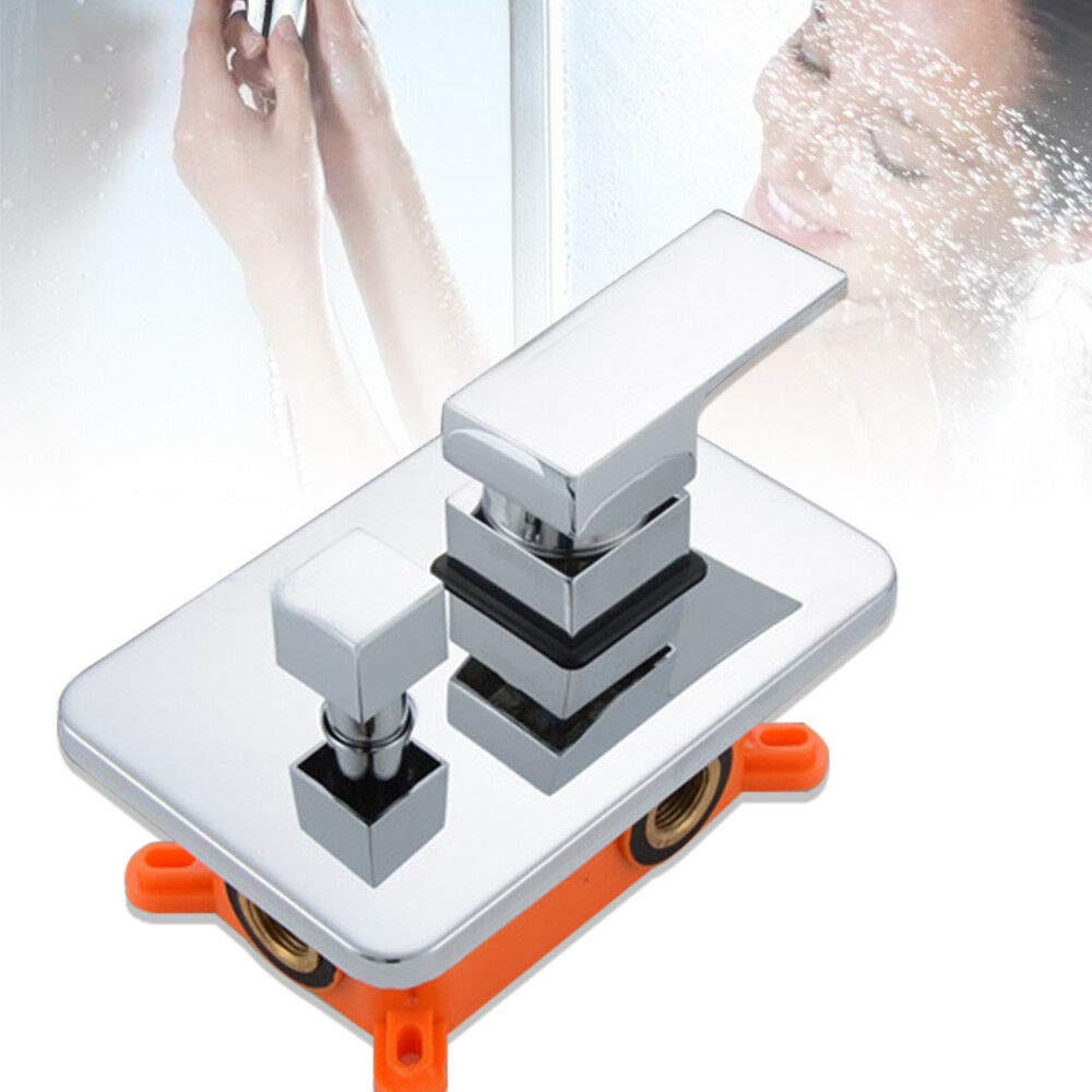 Shower Valve Embedded Wall Mount Shower Mixer Valve 2-way Dual Function Mixing Diverter Shower Faucet Control Valve (US STOCK) by SHZICMY (Image #1)