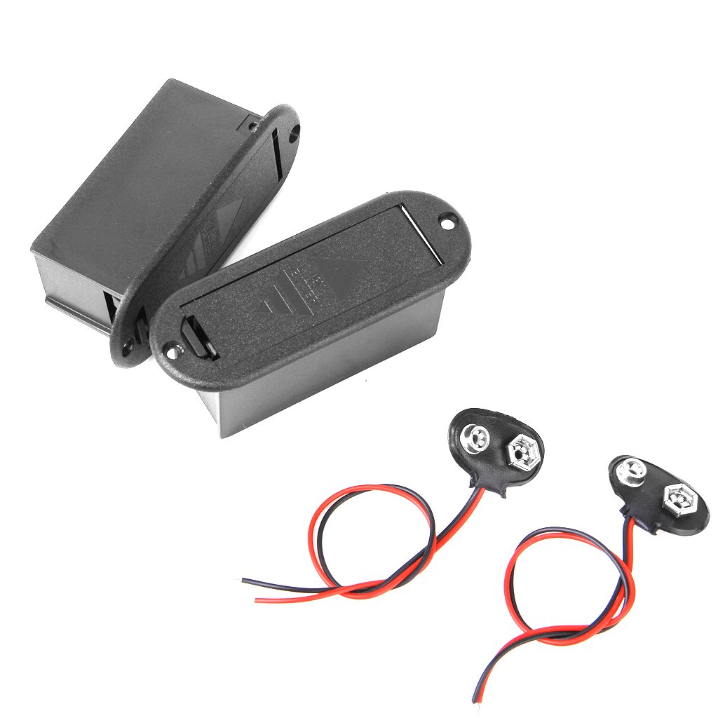 Boîte de Guitare Prise de Son Avec 9 Volt Batterie Et Pile 9V W / Batterie Clip Generic STK0115009006